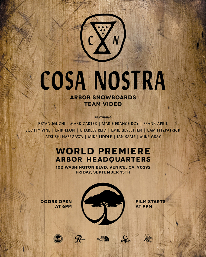 mountain high arbor snowboards cosa nostra movie premiere