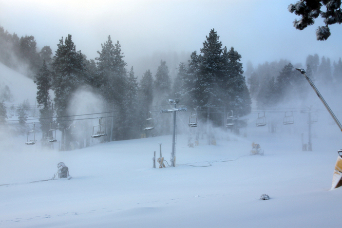 Exceptional snowmaking overnight.
