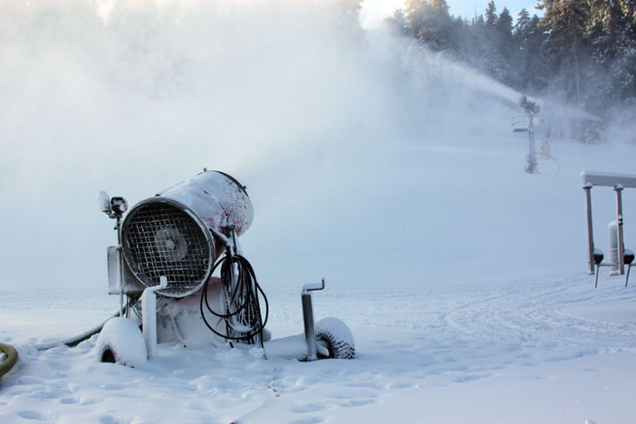 Snowmaking will continue as long as conditions permit in order to open new terrain as quickly as possible.