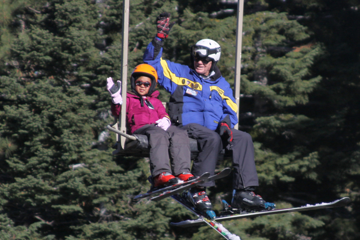 The Winter Sports School is in full operation with lessons for both children and adults.