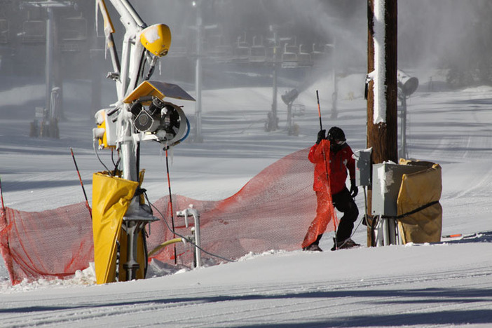Patrol getting the mountain ready to open.
