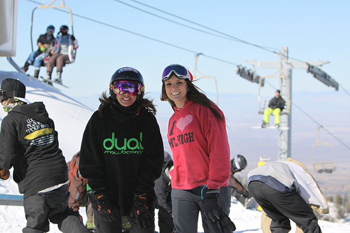 Miss Mountain High was on hand for some great Holiday shredding