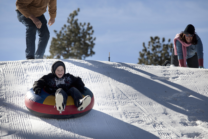 Visit the North Pole Tubing Park, open today from 9am to 4pm.