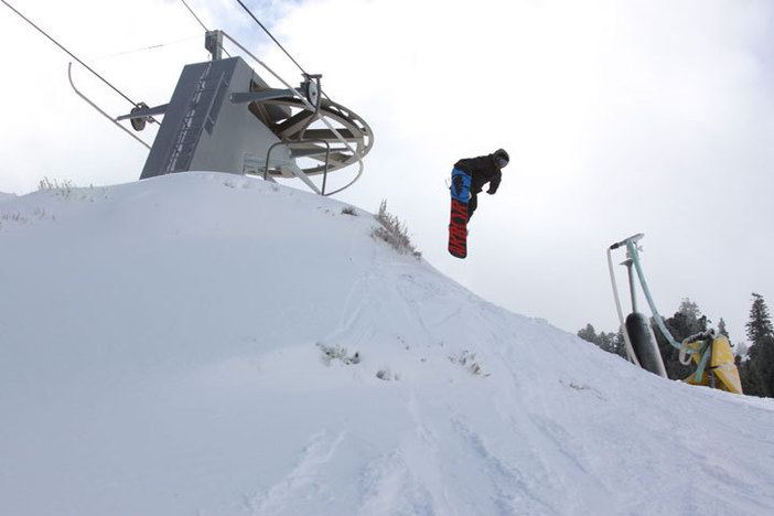 Cody airing off the Competition lift terminal.