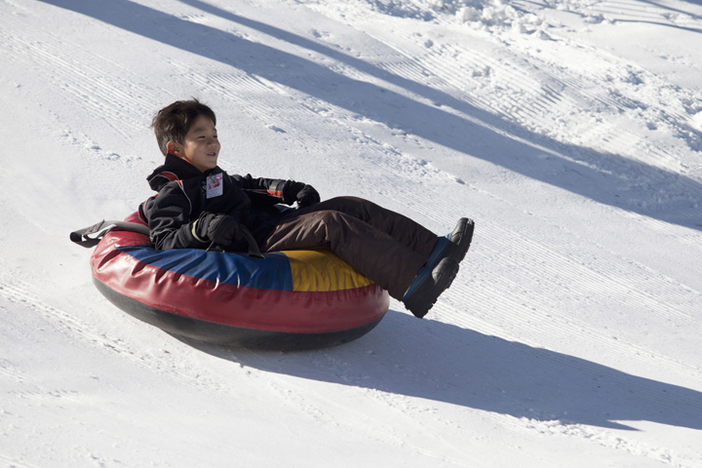 Fun adventures await at the North Pole tubing park.