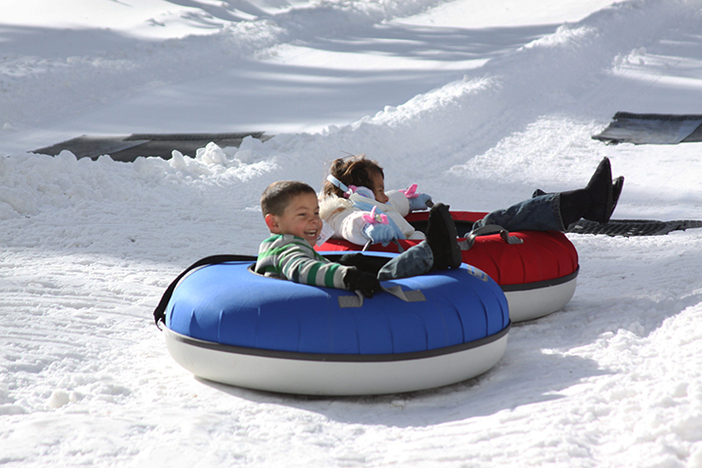 The North Pole Tubing Park is fun for all ages!