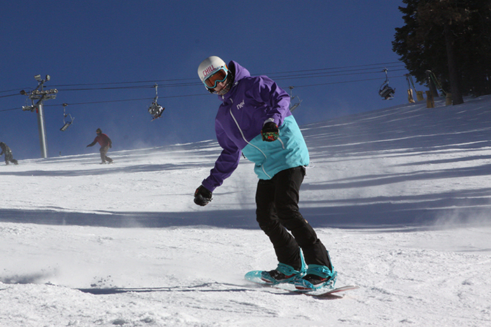 Snow conditions have been excellent, send it down Wyatt after hitting the park on Boarderline.
