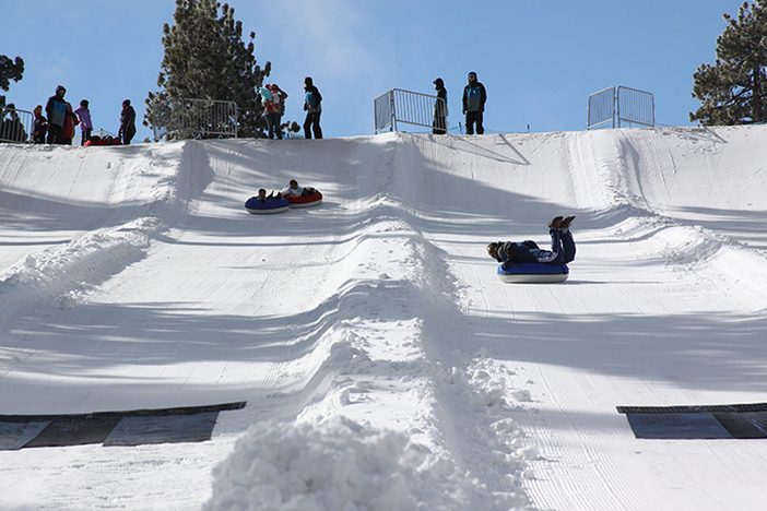 The North Pole Tubing Park is fun for big and little kids!