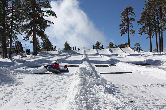 Feel some serious speed at the North Pole Tubing Park.