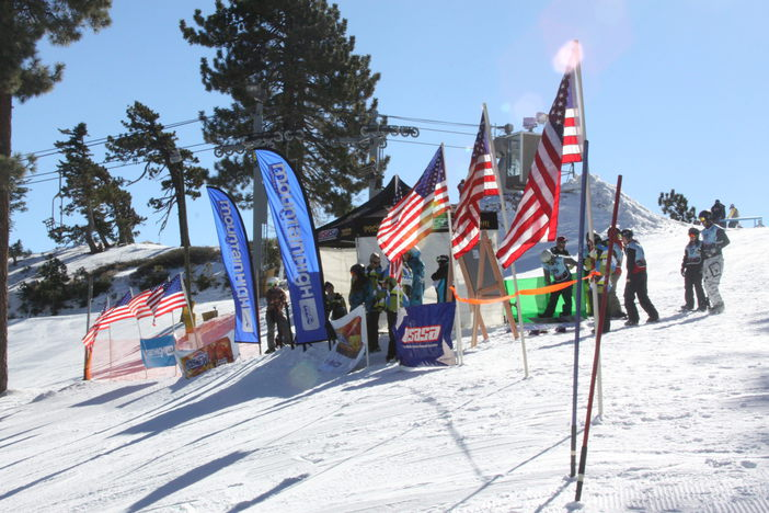 USASA Racing start gates at the top of chair 5.