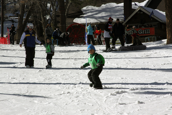 Even the little ones are getting some of this great snow and beautiful weather.