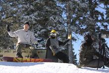 Ryan Paul & Kyle Lopiccolo enjoying a sunny day on the hill