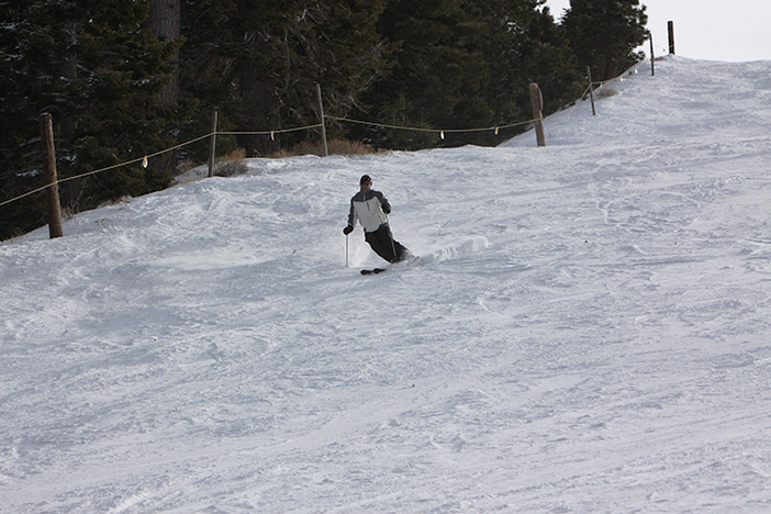 Mountain High East has great wide runs, go lay down some turns!