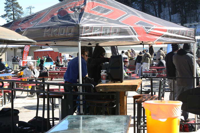 KROQ spinning some tunes on the West Deck.