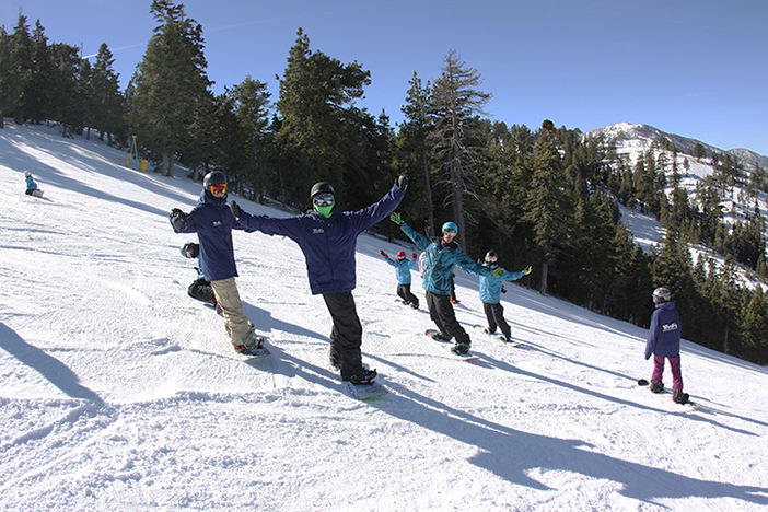 Team Mountain High enjoying the beautiful January conditions.