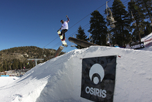Jordan Gibson airs off the bazooka tubes during the OSIRIS Sunday competition!