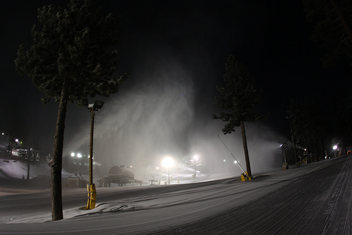 the snow makers put in work last night to get the mountain extra white!