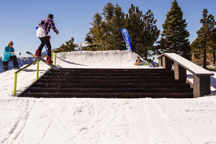 Sick stair setup on The Saddle. Photo by: Garrett Fierstein