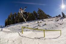 Going big over the gap to down rail.  Photo by: Garrett Fierstein