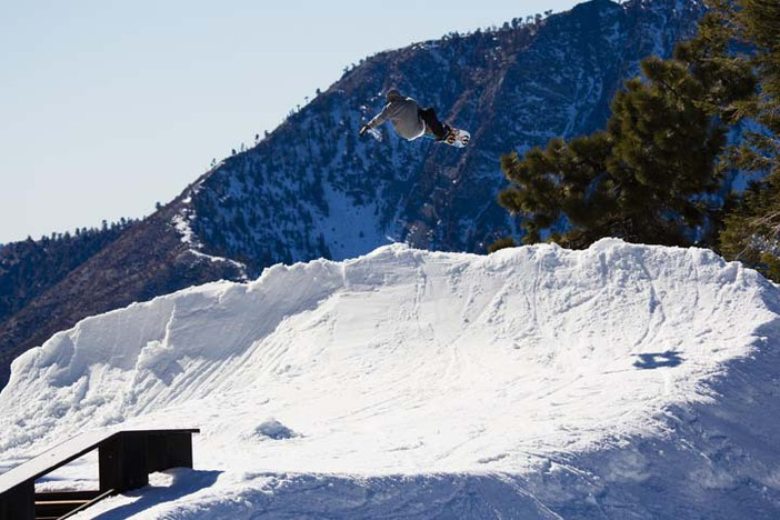 Trever Haas with the Alley Oop out of the quarter pipe. Photo: Garrett Fierstein