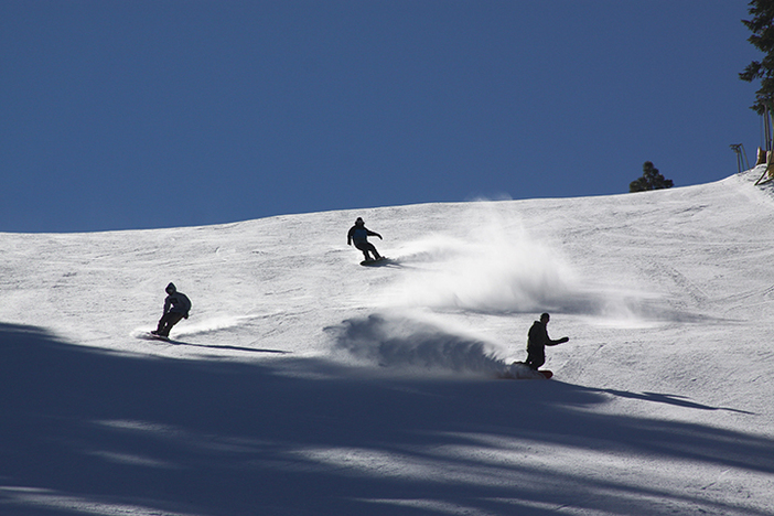 Great wide open runs like Headwall are ready for cruising.