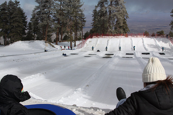 The North Pole Tubing park is open with up to three lanes today.