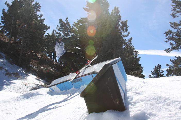 Jordan Gibson riding out the banked C-box.