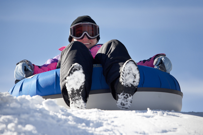 Head to the North Pole Tubing Park for some fun in the snow.