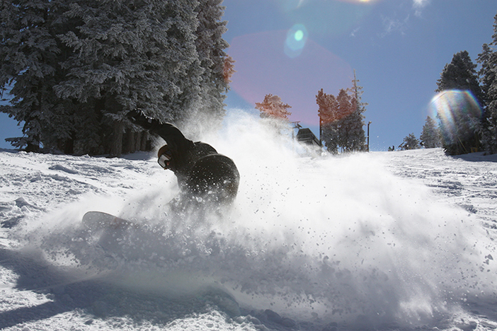 Slashing some pow in the 8-10 inches of new snow we got!