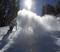 Blasting through the new snow.