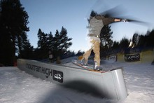 Dom getting blurry with this nose press in the Playground.