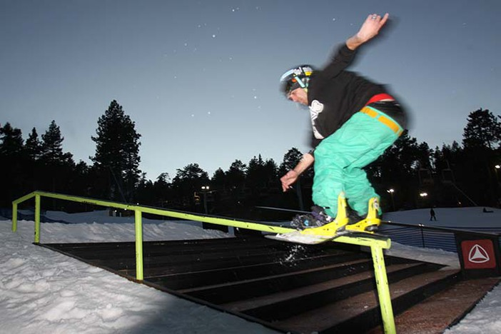 Brendon Simmons trying to win his 2nd So-Gnar contest.