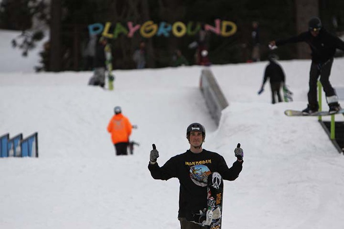 Stoked on the course.