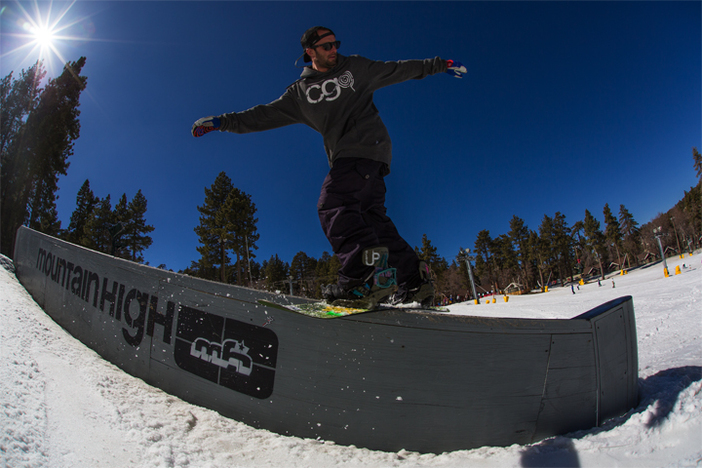Yale Cousino enjoying the sunshine and a proper front board.