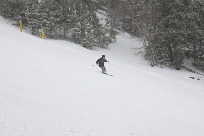 Getting some turns in on the fresh snow.