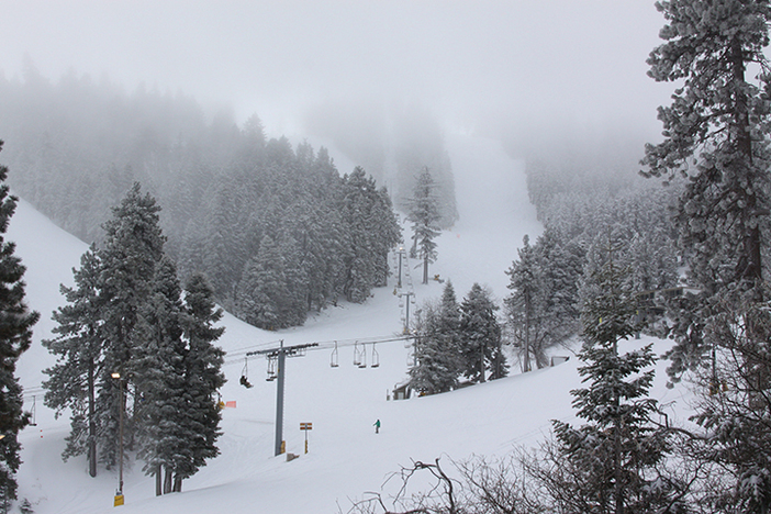 "6-8"" of new snow blanketed the resort!"