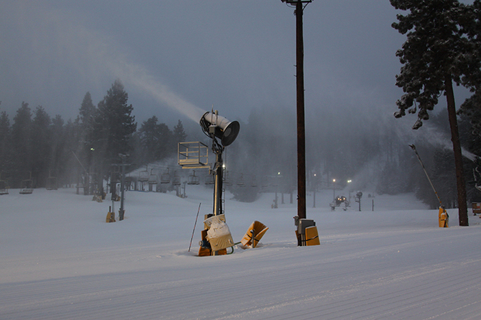Our snowmaking system has been laying down great coverage!