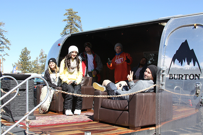 The Burton Airstream visited the High during the party yesterday!