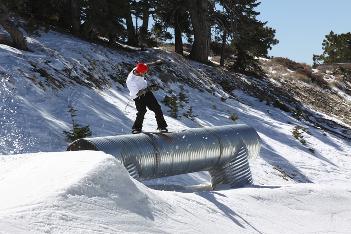 Trever Haas on the Corrugated Tube.