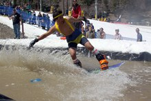 Pond Skimming, always a spring break favorite.
