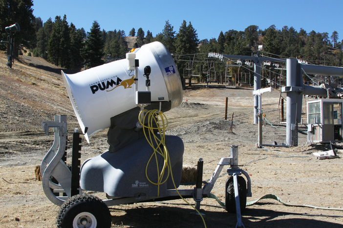 "New snow blower ""the puma"" is ready to start blasting."