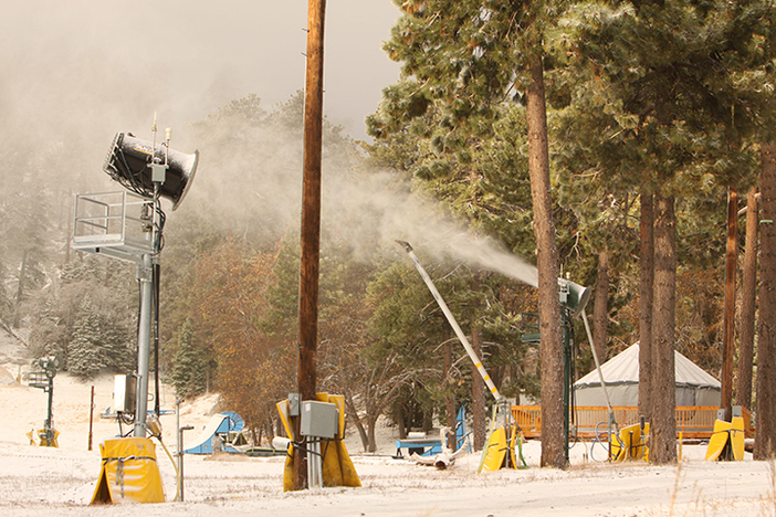 Testing out our snow guns in preparation for opening day.