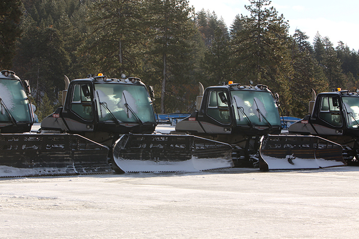 Snow cats are ready to roll.