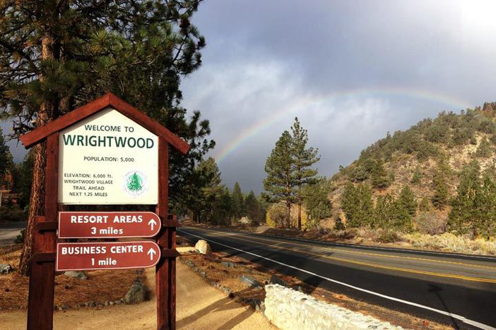 Beautiful rainbow over Wrightwood this morning.