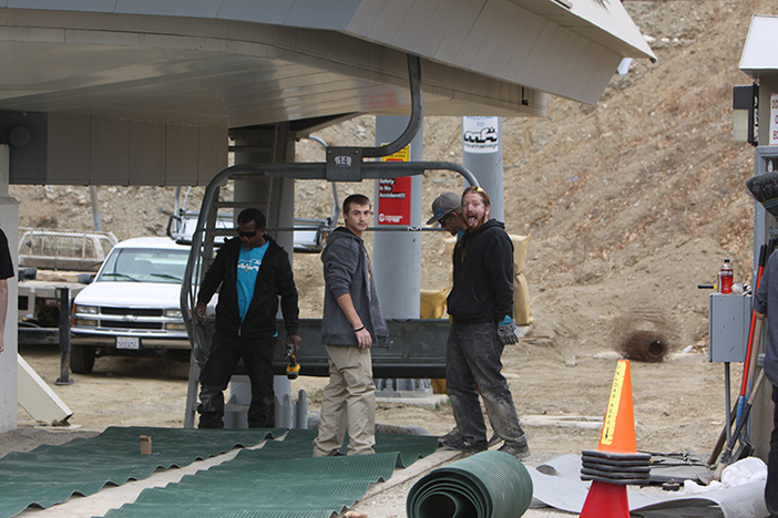 Making sure the Mountain High Express is ready for opening day!