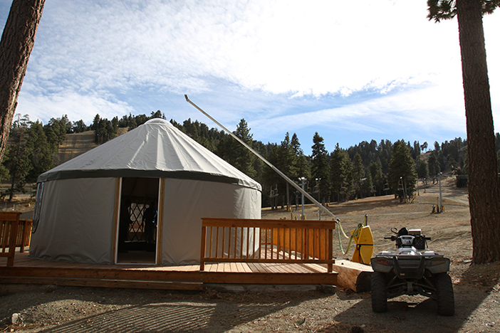 Part of our off season improvements included a new yurt.