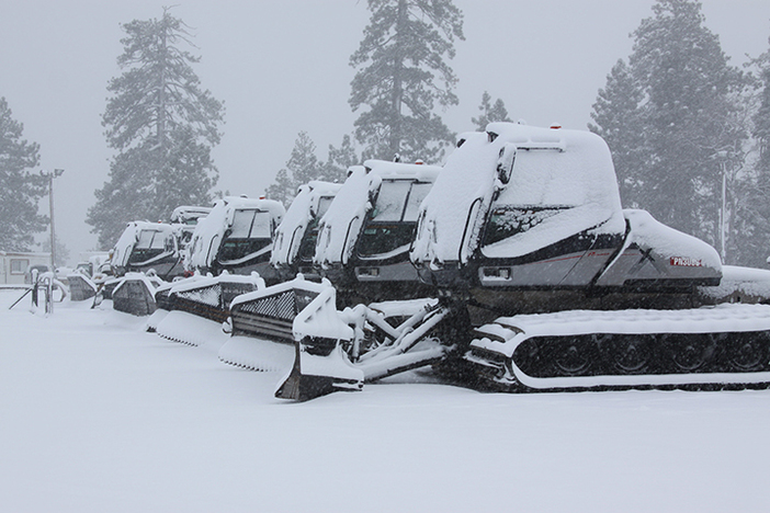 Snow cats will be ready to roll.