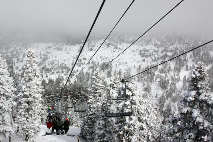 Looking down the Blue Ridge lift line.