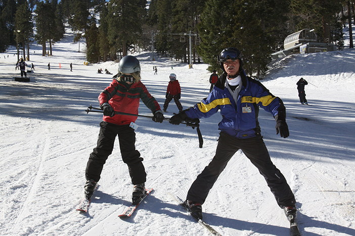 Ski school has awesome early season lesson specials.