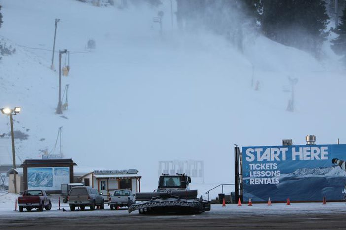 Snowmaking underway!